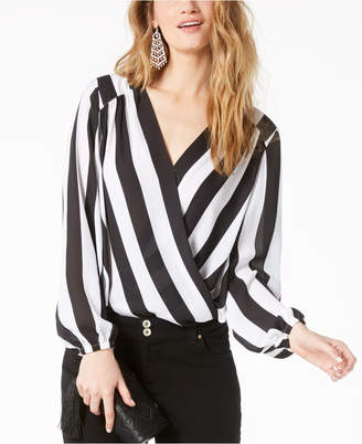 INC International Concepts I.n.c. Striped Surplice Top