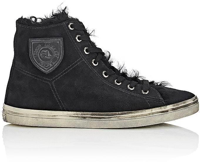 Saint Laurent Women's Rivington Suede Sneakers