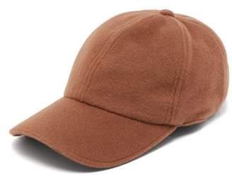 Officine Generale Wool And Cashmere Blend Cap - Mens - Walnut