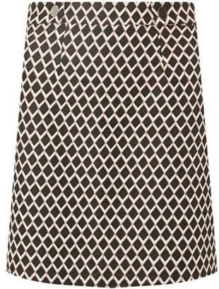 Dorothy Perkins Womens Multi Colour Geometric Mini A-Line Skirt