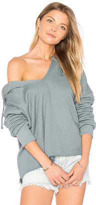 Wildfox Couture V-Neck Hoodie in Slate $118 thestylecure.com
