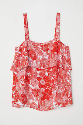 H&M Camisole Top with Flounce