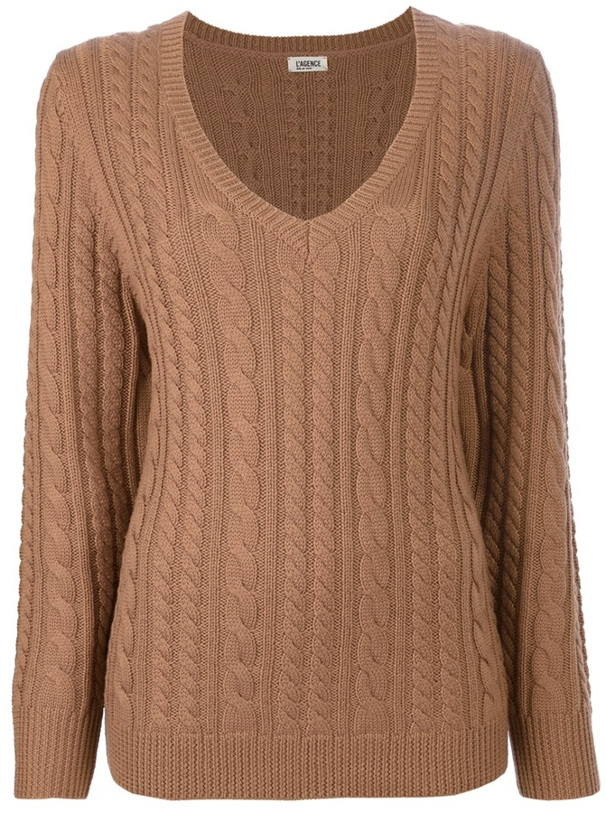L'Agence Cable knit sweater