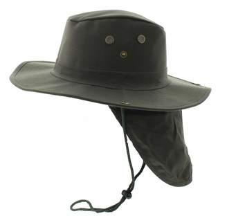6b37b0de3ccc4 JFH GROUP Wide Brim Unisex Safari Outback Summer Hat w Neck Flap (Extra