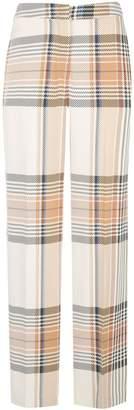 Designers Remix plaid print trousers