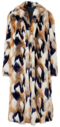 Givenchy Faux Fur Coat - Ivory