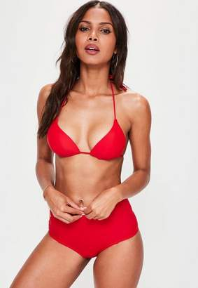 Missguided Red Moulded Triangle Bikini Top - Mix & Match