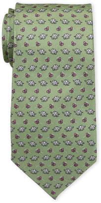 Pierre Cardin Elephant Print Silk Tie