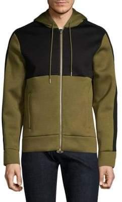 Helmut Lang Contrast Cotton Zip Hoodie