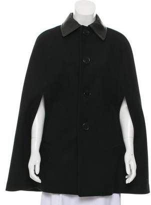 Saint Laurent Wool Button-Up Cape