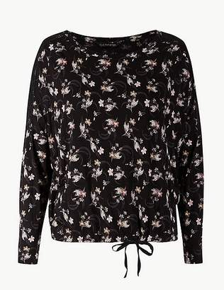 Marks and Spencer Floral Print Long Sleeve Pyjama Top