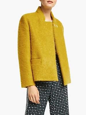 Marella Alibi Boucle Wool Blend Coat, Mustard