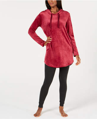 Alfani Velvet Tunic Pajama Top