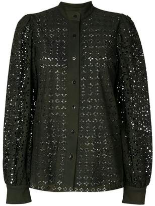 Michel Klein cut out detail shirt