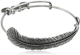 "Alex and Ani Earth Sultry ""Plume Feather"" Bangle Bracelet"
