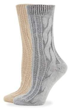 Hue Two-Piece Cable Knit Sock Set