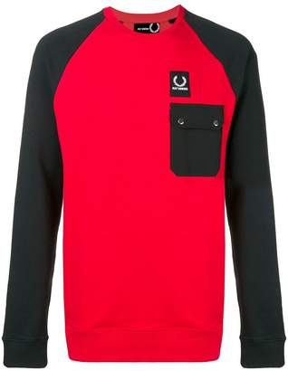 Fred Perry bicolour pocket sweatshirt