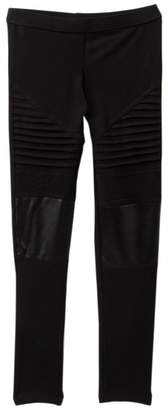 Harper Canyon Moto Faux Leather Leggings (Big Girls)