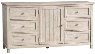 Pottery Barn Teen Beadboard Wide Dresser, Weathered White