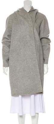 Vince Hooded Wool-Blend Coat w/ Tags