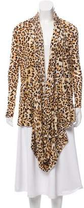 Alice + Olivia Wool & Cashmere-Blend Animal Print Poncho