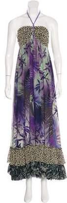 Jean Paul Gaultier Soleil Floral Print Halter Dress