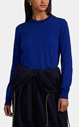 87d80ca2d0 Maison Margiela Women s Elbow-Patch Cotton Crewneck Sweater - Blue