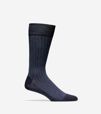 Cole Haan Geo Pattern Crew Socks