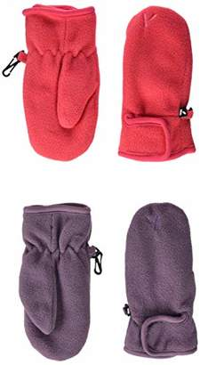 Name It Girl's Nmfmar Fleece 2p Mitten Fo Gloves, Pink Pack As 2pack W. Teaberry and Arctic Dusk, 6 Pack of 2