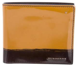 Burberry Patent Leather Bifold Wallet