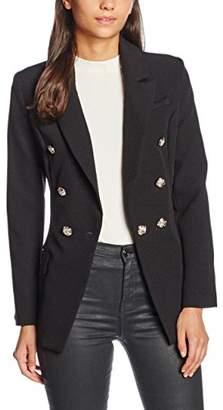 boohoo Women's Button Detail Structured Blazer Jackets