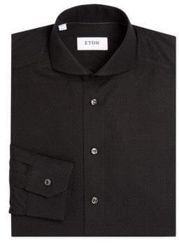 Eton Regular Fit Mini Dots Cotton Dress Shirt