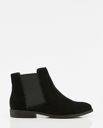 Le Château Leather Almond Toe Chelsea Boot