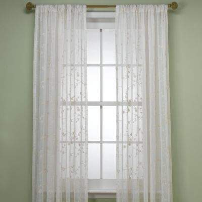 B. Smith Bermuda 108-Inch Window Curtain Panel in Ivory