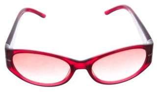 Valentino Narrow Gradient Sunglasses