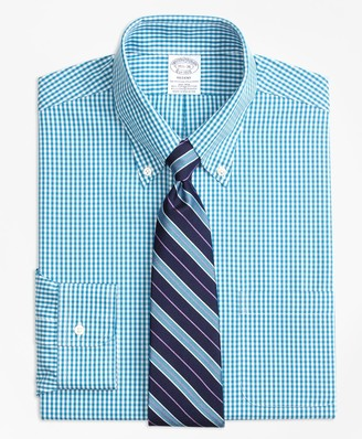 Brooks Brothers Stretch Regent Fitted Dress Shirt, Non-Iron Gingham