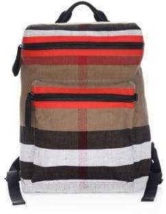Burberry Donny Striped Backpack