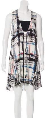 Marissa Webb Printed Knee-Length Dress