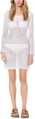 Michael Kors Hand-Crocheted Cotton Tunic