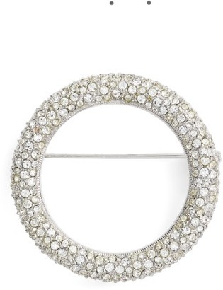 Women's Nadri Pave Circle Brooch $78 thestylecure.com