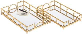 Twos Company Mirrored Trays (Set of 2)