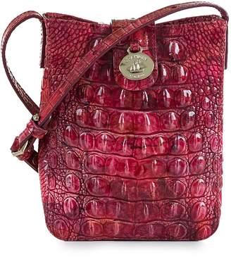 Brahmin Marley Croc Embossed Leather Crossbody Bag