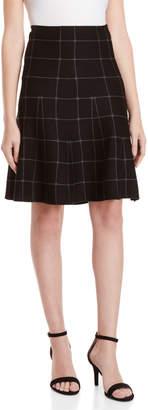 Max Studio Checker Print Sweater Skirt