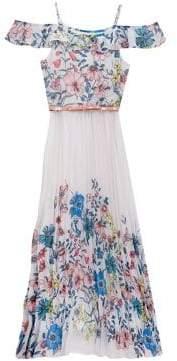 Rare Editions Girl's Chiffon Floral Dress