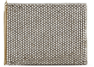 Cindy Embellish Crystal Embellished Pouch $160 thestylecure.com