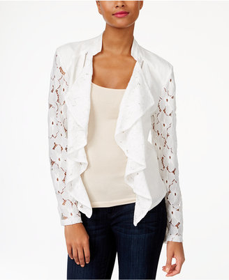 Inc International Concepts Lace Draped Jacket, Created for Macy's $89.50 thestylecure.com