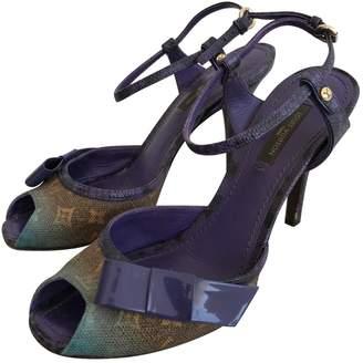 Louis Vuitton Purple Cloth Sandals