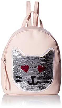 T-Shirt & Jeans Womens Sequin Patch Cat Backpack