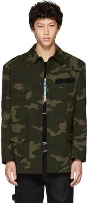 Gosha Rubchinskiy Green Camo Hybrid Jacket