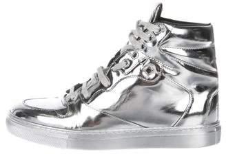 Balenciaga Metallic High-Top Sneakers